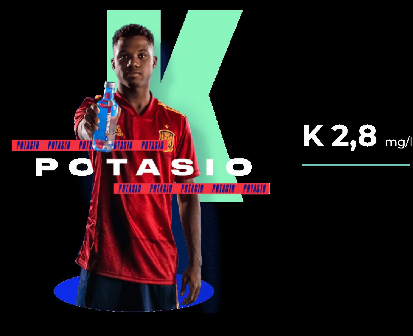 Potasio K 3,8 MG/L